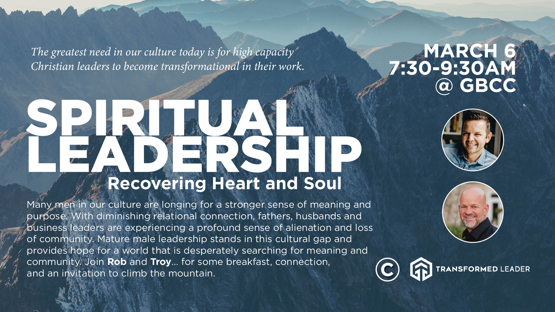 Men's spiritual leadership gathering